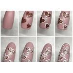 Розовое золото металлический микро-глиттер Lecente Rose Gold Ultra Fine Glitter (7,5 г)