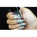 Серебристые голограммные крупные пайетки Lecente Night Fever Disco Balls Glitter Shapes (8г)