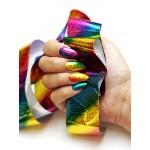 Радужное мерцание Голографическая фольга Lecente Rainbow Shimmer Nail Foil (1,5м) Фото 3