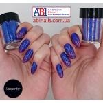 Сапфировый голограммный мульти-глиттер Lecente Sapphire Holographic Multi Glitz Chunky Glitter (9 г)