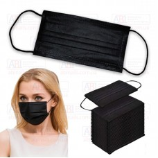 Одноразовые маски для лица (черные) 10 шт/уп