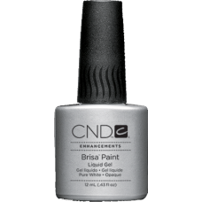 Гель із пензликом для френча Brisa Paint Pure White Opaque (12мл)