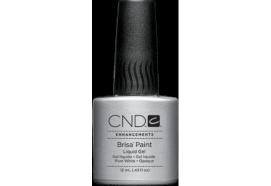 Гель із пензликом для френча Brisa Paint Pure White Opaque (12мл)