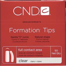 Прозрачные типсы Clear Formation Tips №1 (50шт./уп)