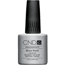 Гель із пензликом для френча Brisa Paint Soft White Opaque (12мл)