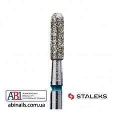 Фреза алмазная цилиндр закругленный зеленая диаметр 2,3мм / рабочая часть 8мм FA30G023/8K