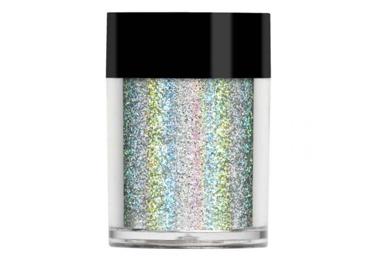 Серебристый супер голографический глиттер Lecente Everest Super Holographic Glitter (8г)