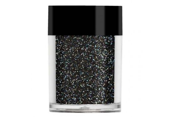 Черный радужный глиттер Lecente Rainbow Black Iridescent Glitter (6,5 г)