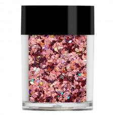 Розовая голорамма конфети Lecente™ Rose Holographic Chunky Glitter Diamonds 7 г