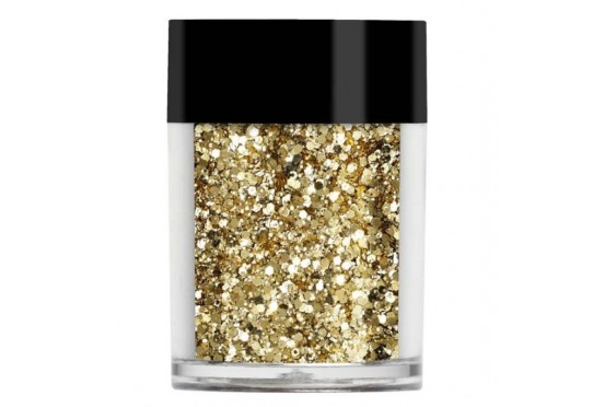 Золотий мультірозмірний глиттер Lecente Sand Multi Glitz Chunky Glitter (7 г) Фото 1