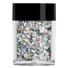 "Серебристые голограммные ""осколки льда"" Lecente™ Silver Crushed Ice Holographic Glitter 5 г"