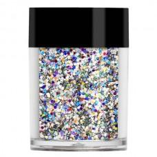 Серебристый голограммный мульти-глиттер Lecente™ Silver Holographic Multi Glitz Chunky Glitter (8,5 г)