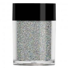 Серебристый голографический глиттер Lecente™ Silver Holographic Glitter (9 г)