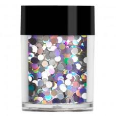 Серебристые голограммные крупные пайетки Lecente™ Night Fever Disco Balls Glitter Shapes (8г)