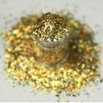 """Золотые голограммные """"осколки льда"""" Lecente Gold Holographic Crushed Ice (4,5 г)"""