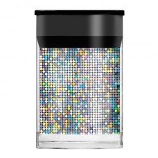 Голографическая фольга Lecente Silver Mosaic Nail Foil (1,5м)