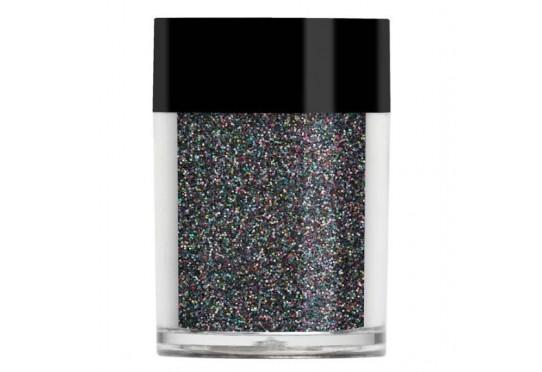 Чорний голографічний глиттер Lecente Black Holographic Glitter (9,5 г)