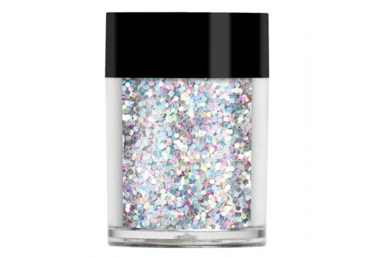 Серебристые с голограммными блестками Конфетти Pearl Chunky Glitter Shapes (8г) Фото 1