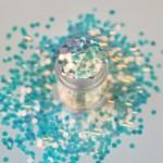 Белые радужные крупные пайетки Lecente Dancing Queen Disco Balls Glitter Shapes (8 г) Фото 3