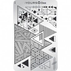 Пластина для стемпинга :YOURS Loves Dee – Triangle YLD 08