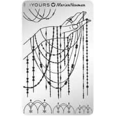 Пластина для стемпинга :YOURS Loves Marian Newman – Charm of Chains YLM 02