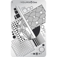 Пластина для стемпинга :YOURS Loves Dee – Square YLD 07