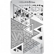Пластина для стемпинга :YOURS Loves Dee – Triangle YLD 08
