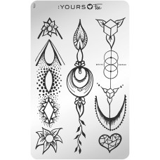 Пластина для стемпинга :YOURS Loves Fee – Artful Aperture YLF 14