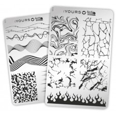 Двухсторонняя пластина для стемпинга :YOURS Loves Sascha Fine Marble YLS33