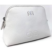Cумка брендовая белая CND Swarosvki Pouch