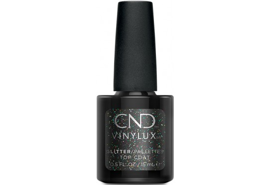 Закрепитель с глиттером CND Vinylux Glitter Top Coat