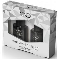 Набор закрепителей Shellac and Vinylux Matte Top Coat Duo