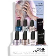 Набор лаков для ногтей CND Vinylux Glacial Illusion (6 лаков + 1 закрепитель)