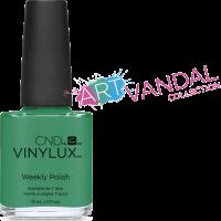 Лак для ногтей CND Vinylux Art Basil (бирюза с золотым микроблеском.) 15 мл
