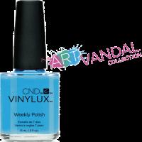 Лак для ногтей CND Vinylux Digi-teal (ярко-голубой эмаль) 15 мл